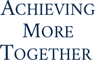 ACHIEVING MORE TOGETHER